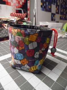 Becca's Crazy Projects: Stitching up Dice Bags