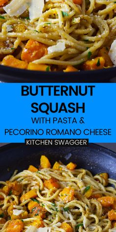 This butternut squash pasta dish is really simple to make, but full of flavor! The ingredients are simple--just some pasta, butternut squash, brown butter, cheese and cozy spices. It's an easy weeknight dinner that's elegant and takes very little time to put together.
