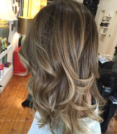 Bronde balayage colour melt hair