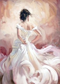 Gentle Flamenco dancer oil painting Canvas Giclee Art Print - Painting - Ideas of Painting Art And Illustration, Illustrations, Dress Painting, Painting & Drawing, Painting Frames, Diy Painting, Painting Canvas, Wall Canvas, Art Paintings
