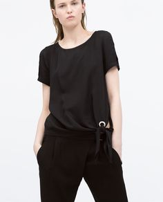 Image 2 of TOP WITH SIDE TIE from Zara