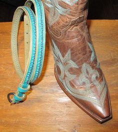 Old Gringo Diego Cowboy Boots CowboysBelt Belt in Turquoise