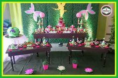 Mesa dulce de cumpleaños de campanita