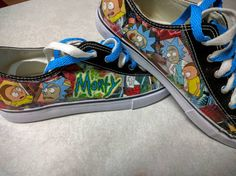 Check out this item in my Etsy shop https://www.etsy.com/listing/255957999/rick-and-morty-sneakers