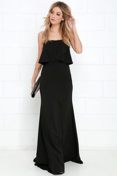 From a Fantasy Black Maxi Dress at Lulus.com!