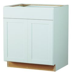 Kitchen Classics�Arcadia 35-in x 30-in x 23.75-in Finished White Sink Base Cabinet
