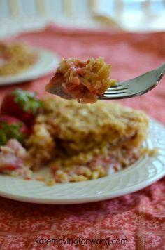 Yum-- Strawberry Rhubarb Baked Oatmeal