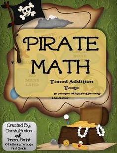 Pirate Math ~ Timed Addition Math Program