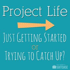 Project Life--Much easier & CHEAPER than scrapbooking! Now this is something I could probably do.