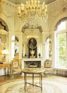 Octagonal salon in the Comtesse de Provence's garden pavilion at Montreuil, near Versailles 1784. Book: French Interiors of the 18th century by John Whitehead.