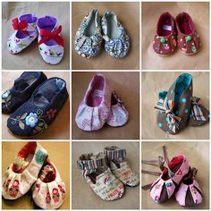 Free patterns for cute little shoes.