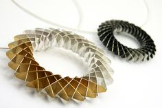 Emily Richard; silver, oxidised silver and gold plated jewellery,