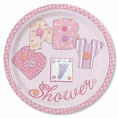 Stitch Theme Pink Baby Shower Plate