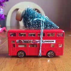 London Red Bus & Christmas Tree