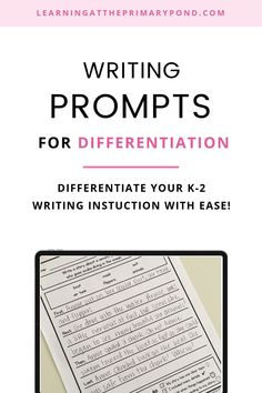 These writing prompts come with built in scaffolds for differentiation: sentence starters for helping students structure their writing, word banks to provide language and vocabulary support, and self-assessment checklists help students learn to routinely self-assess their writing. Writing Workshop, Writing Prompts, Teacher Workshops, Sentence Starters, Teaching Style, Self Assessment, Differentiation, Elementary Education, Teaching Reading