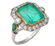 Art Deco Emerald ring..... Amazing.