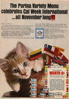Purina Variety Menu Cat Foods-1968 | Flickr - Photo Sharing!