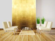 Gold leaf wall panels