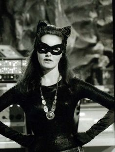 Catwoman Julie Newmar inside the Batcave!