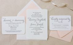The Verbena Suite Modern Letterpress Wedding Invitations by Dinglewood Design and Press
