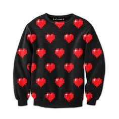 Pixel Hearts Sweatshirt