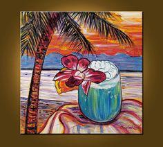 Island Dreaming  20 x 20 inch Original Oil от ElizabethGraf