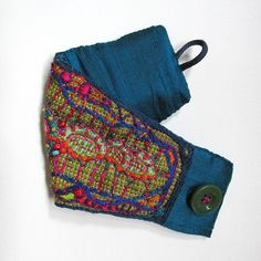 RESERVED Hand Embroidered MultiColored Cuff by MadrigalEmbroidery