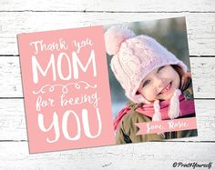 Mothers Day Photo Card // Personalized Printable Mothers Day