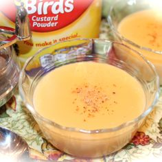 Because You Make it Special~ - Kitchen Encounters Rice Custard Pudding Recipe, Bird's Custard, Rice Pudding Recipes, Custard Sauce, Coconut Custard Pie, Custard Powder Recipes, Egg Custard Recipes, How To Make Custard, Pie Kitchen