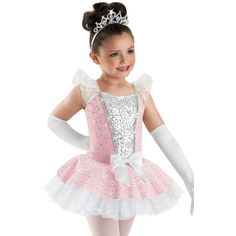 Sequin Princess Tutu Dress; Weissman Costumes ❤ liked on Polyvore featuring costumes, dance, pink costume, princess costume, sequin costume, pink princess costume and glitter costume
