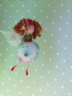 Needle felted waldorf inspired Magic Fairy Firefly por BottegaSogni