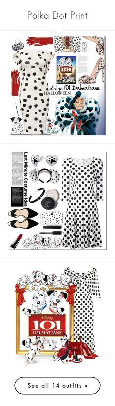 """Polka Dot Print"" by yours-styling-best-friend ❤ liked on Polyvore featuring GEDEBE, Kate Spade, Disney, Isotoner, Casetify, halloweencostume, DIYHalloween, Dolce&Gabbana, Bling Jewelry and Paul Andrew"