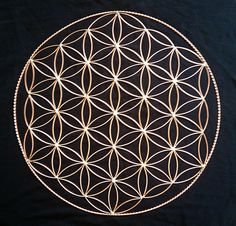 beautiful copper flower of life by Indigo Metal Works . . i want!  --> Great tools for light-workers.. Flower of Life T-Shirts, V-necks, Sweaters, Hoodies & More ONLY 13$ EACH! LIMITED TIME CLICK ON THE PICTURE