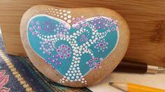 Tree of life, stone art, rock painting