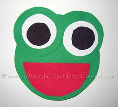 Circle Frog - shapes craft - Artsy Momma
