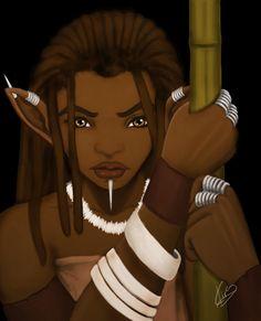African Elf Warrior by KiraTheArtist.deviantart.com on @deviantART