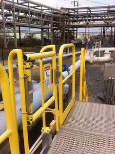 uses and applications; industrial safety swing gates; rooftop handrail systems