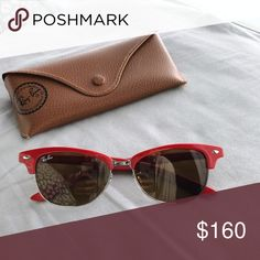 Shop Women's Red size OS Sunglasses at a discounted price at Poshmark. Sunglasses Accessories, Lady In Red, Sunnies, Ray Bans, Best Deals, Womens Fashion, Closet, Vintage, Things To Sell