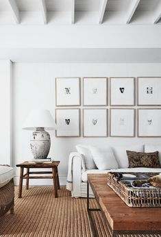 Practicality, calmness and an affinity for neutrals underpin the chic aesthetic of this coastal holiday house that offers a resort-style ambience for several generations of one family. home accent, A waterfront abode with a Bahamas-inspired aesthetic Home Living Room, Interior Design Living Room, Living Room Designs, Living Room Decor, Living Spaces, Tiny Living, Living Area, Scandi Living Room, Bedroom Decor