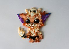 Gnar League of Legends hama beads by GoAmigurumis Kandi Patterns, Hama Beads Patterns, Beading Patterns, Stitch Patterns, Pearler Beads, Fuse Beads, League Of Legends, Pixel Art, Perler Bead Art
