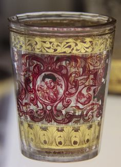 Gilt painted glass, from MAK (Museum of Applied Arts) collection, Vienna