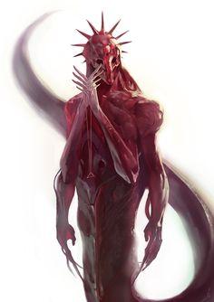 Humanoid Alien Concept Art: Cool Designs Of Extraterrestrial Races Alien Design By Oscar Romer Monster Concept Art, Alien Concept Art, Creature Concept Art, Monster Art, Creature Design, Game Concept, Dark Fantasy Art, Fantasy Artwork, Arte Horror