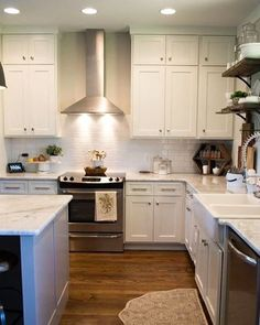 My dream kitchen came to life. I stood my ground for the backless oven and so glad I did! I'll never go back to one with a back.  #kitchen #interiordecor #design #interiordesign #decor #decoration #white #gray #instadecor #fresh #clean #openhouse #cabinets #subwaytile