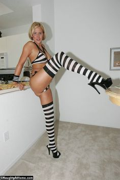 striped stockings w lingerie...love this pic..! kisses Desirae