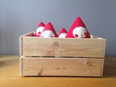 Red strawberry soft toy felt and fleece