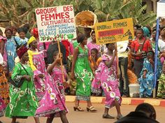 A parade in Cameroon on International Women's Day.