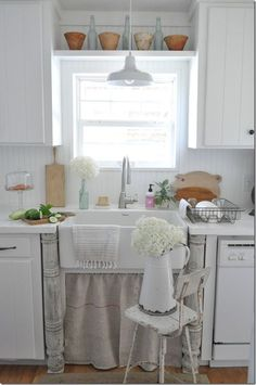 farmhouse kitchen put together with old and new