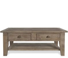 Hugo Large Coffee Table - Constructed of reclaimed pine, the Hugo is hand finished and features jigsaw construction made popular in 18th century Ireland, creating a genuine rustic