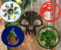 Magic the Gathering 5 Mana Ornament Set by ThroughThickandThin, $40.00