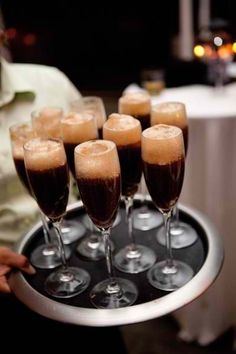 Adult Root Beer Floats w/ Vanilla Vodka: half root beer, shot of vodka, scoop vanilla bean ice cream